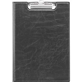 DURABLE Klemmbrett PREMIUMk, DIN A4, Lederoptik, schwarz