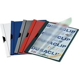 DURABLE Klemmmappe DURACLIP, DIN A4, Kunststoff, mit Clip, sortiert