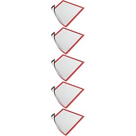 DURABLE Magnetrahmen DURAFRAME MAGNETIC DIN A4, rot, 5 Stück