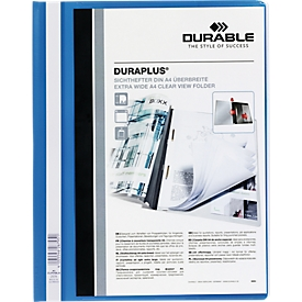 DURABLE presentatiemap DURAPLUS extra breed, pvc-hardfolie, 25 stuks, blauw