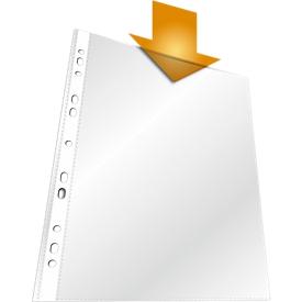 DURABLE Prospekthüllen Standard, DIN A4, oben offen, 100 Stück, transparent