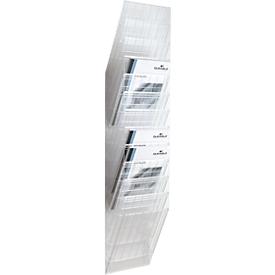 DURABLE Prospektspender Flexiboxx 12, 12 Spender, A4, hoch, transparent