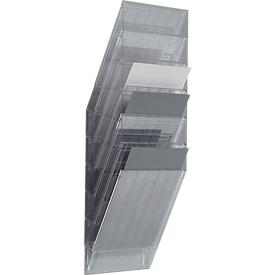 DURABLE Prospektspender Flexiboxx 6, 6 Spender, A4, hoch, transparent