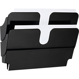 DURABLE Prospektspender Flexiplus, 2 Spender, A4, quer, schwarz