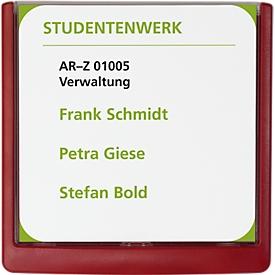 DURABLE Türschild CLICK SIGN, 149 x 148,5 mm, 5 Stück, rot