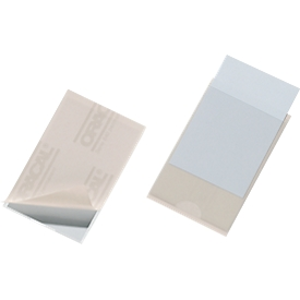 DURABLE Visitenkartenhüllen, für 100 Visitenkarten, selbstklebend, 100 Stück, 92 x 62 mm