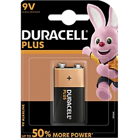 DURACELL® batterijen Plus E-Block, 9 V, per stuk,