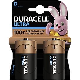 DURACELL® batterijen ULTRA, Mono D, 1,5 V, 2 stuks