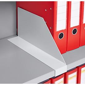 Dwarsverdeling TETRIS SOLID, voor legborden voor vleugeldeurkasten, blank aluminium