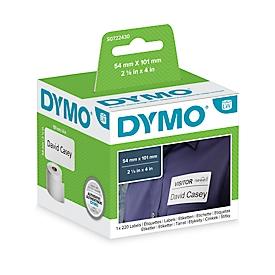 DYMO LabelWriter, Etiquetas de envío/nombre, permanentes, 101 x 54 mm, 220 piezas