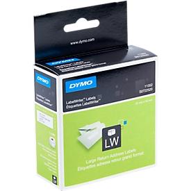 DYMO LabelWriter, terugzendadres-etiketten, permanent, 25 x 54 mm, 500 st.
