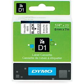 DYMO® lint beletteringssysteem 43610, 6 mm breed, transparant/zwart