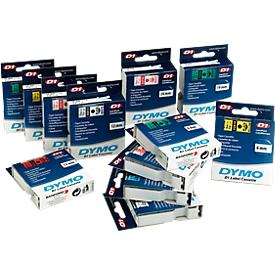 DYMO® Schriftbandkassette 43613, 6 mm breit, weiß/schwarz
