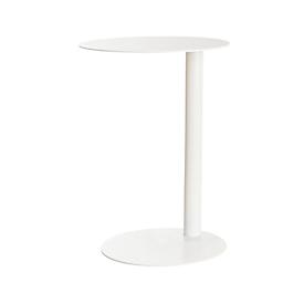 easyDesk® bijzettafel, van staal, rond, zuilpoot,  Ø 400 x H 570 mm, wit