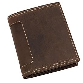Echtleder-Geldbörse, Braun, Standard, Auswahl Werbeanbringung erforderlich