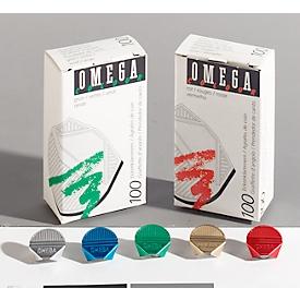 Eckenklammern Omega, silber, 100St.