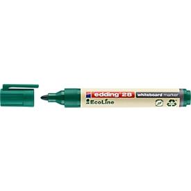 Edding 28 EcoLine whiteboardmarker, ronde punt, navulbaar, groen, 10 st.