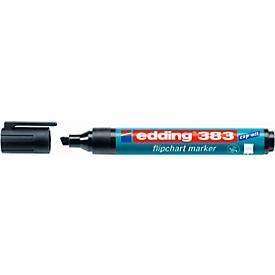 edding 383 Flipchart-Marker, Keilspitze, schwarz, 1 Stück