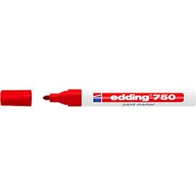 EDDING Marcador de pintura 750, 2-4 mm, rojo, 1 unidad