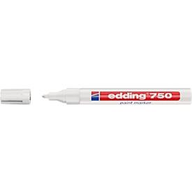 EDDING paint markers 750, 2-4 mm, wit, 1 stuk