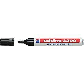EDDING permanent marker 3300, met wigvormige punt, 1 stuk, zwart