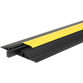 EHA Vario Kabelbrücken, herausnehmbarer Mittelsteg, für In- und Outdoor, L 1000 mm, schwarz/ gelb