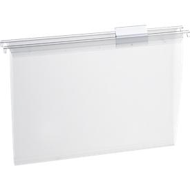 EICHNER Transparente Hängemappe, oben offen, Polypropylen, 15 Stück