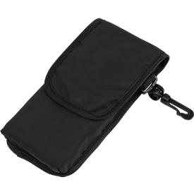 Einkaufstasche SHOPPY, faltbar, mit Klettverschlusstasche, Werbedruck 200 x 200 mm, schwarz