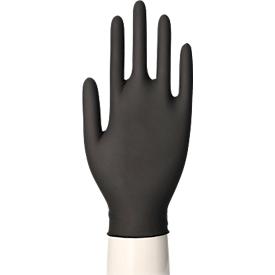 Einmalhandschuhe Medi-Inn® PS Latex Black, für links & rechts, puderfrei, nicht steril, lebensmittelgeeignet, Größe L, Naturlatex, schwarz, 100 Stück