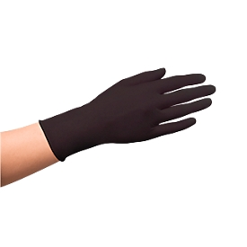 Einmalhandschuhe Medi-Inn® PS Latex Black, für links & rechts, puderfrei, nicht steril, lebensmittelgeeignet, Größe S, Naturlatex, schwarz, 100 Stück
