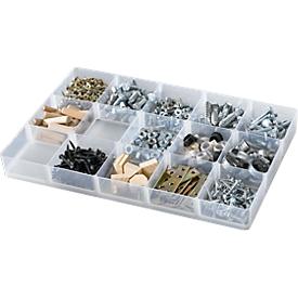 Einsatz, Unterteilung 3 x 5, für Kunststoff-Box 4,9 l