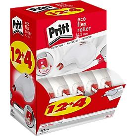 Einweg-Korrekturroller Pritt Eco Flex, ergonom. Design, L 10 m x B 4,2 mm, 16er-Multipack