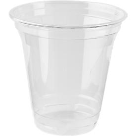 Einweg-Trinkbecher, nur für Kaltgetränke, umweltfreundliches PLA, Volumen 200 ml, H 95,9 x ø 95 mm, 80 Stück, transp.