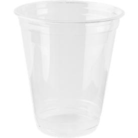 Einweg-Trinkbecher, nur für Kaltgetränke, umweltfreundliches PLA, Volumen 300 ml, H 106,8 x ø 95 mm, 70 Stück, glasklar