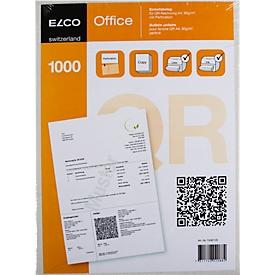 Einzahlungsscheine ELCO Classic QR, A4, 90 g/m², weiss, FSC®-zertifiziert, gültig ab 01.07.2020, 1000 Blatt