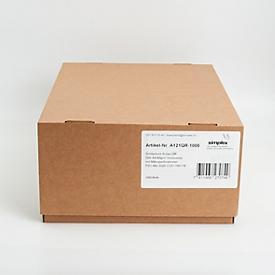 Einzahlungsscheine Simfacture Swiss QR, A4, 90 g/m², weiss, FSC®-zertifiziert, verwendbar ab 30.6.2020, 1000 Blatt