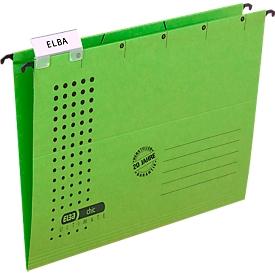 ELBA chic® ULTIMATE Hängemappen, für Formate bis DIN A4, seitlich offen, grün