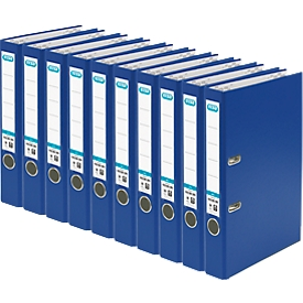 ELBA Ordner smart, DIN A4, Rückenbreite 50 mm, 10 Stück, blau