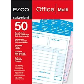 ELCO OFFICE Durchschreibeblöcke, A6, LS/Rechn./Guts.
