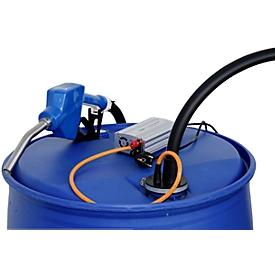 Electrobomba CEMO CENTRI SP 30, 12V, para AdBlue®, agua fresca y anticongelante del refrigerador, bloque de alimentación 230V, manguera 4m, válvula de surtidor automática