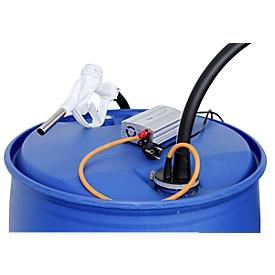 Electrobomba CEMO CENTRI SP 30, 12V, para AdBlue®, diésel, agua fresca y anticongelante del refrigerador, bloque de alimentación 230V, manguera 4m, válvula de surtidor