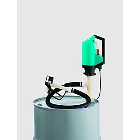 Electrobomba CEMO, juego productos químicos, para barril, calado 1000 mm, motor 230 VCA, 850W, manguera 2m, pistola de surtidor