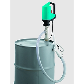 Electrobomba CEMO, Juego universal, para barril, calado 1000 mm, motor 230 VCA, 850W, manguera de PVC de 2m, pistola de surtidor