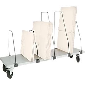 Elemento de almacenamiento bajo mesa Packpool, móvil, 6 arcos de empuje, p. mesas de embalaje An 1500mm