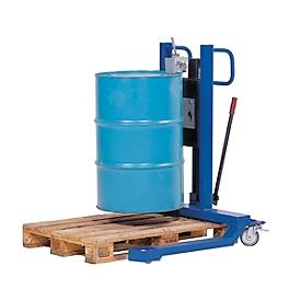 Elevador de barriles asecos, An 830 x Al 1605 x P 1140mm, alcance de elevación 120 - 740mm, acero lacado