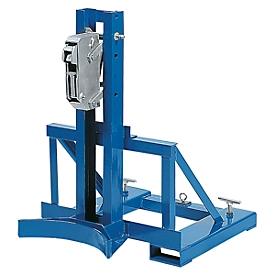 Elevador de barriles asecos, como apilador, acero revestido de polvo, An 710 x P 890 x Al 975mm, para 1 barril, capacidad de carga 350kg