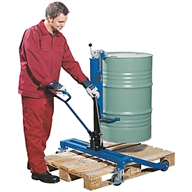 Elevador de barriles asecos, LE asecos, acero revestido de polvo, An 980 x P 810 x Al 1180mm, capacidad de carga 250kg