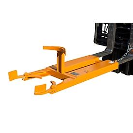 Elevador de barriles BAUER FH-I, acero, para barriles de 120 l, capacidad de carga 300, An 505 x P 1330 x Al 380mm, naranja