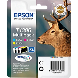 Epson 3 inktcartridges T13064010 cyaan, magenta, geel