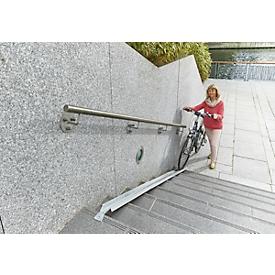 Erweiterungselement für Treppen-Fahrradrampe, L 1130 x B 125 mm, bis 25 kg, mit Befestigungslasche, Blech verzinkt
